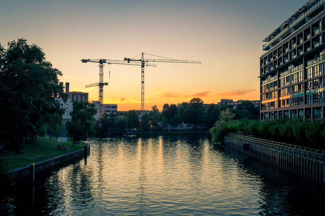 Sonnenuntergang Dovebrücke Berlin Charlottenburg