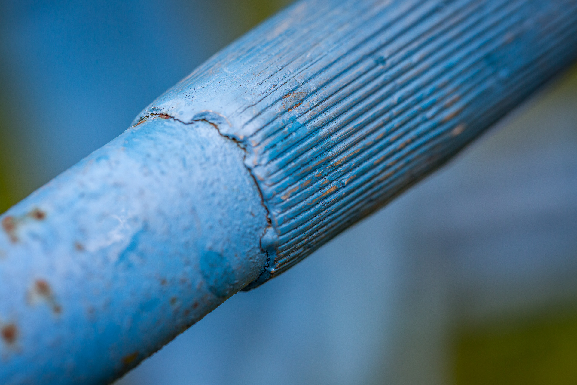 blue bike handle grip
